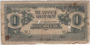 Mazuma *M1336 Malaya Japanese WWII JIM 1942 $1 MJ F Only