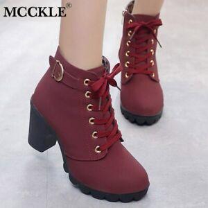 revisa e168f e5b0f Details about Zapatos para mujer Botines de tacón alto Zapato de mujeres  Botas bombas nuevo