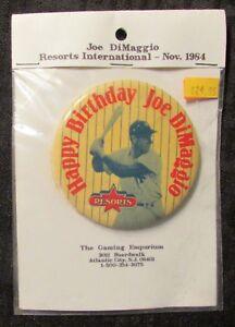 Details About 1994 Happy Birthday Joe Dimaggio 3 Pin Pinback Fn 6 0 Ny Yankees