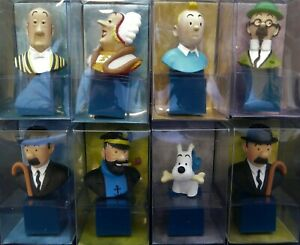 NICE-LOT-OF-8-BUSTS-TINTIN-AND-HIS-FRIENDS-BRAND-NEW-WITH-ORIGINAL-CASE