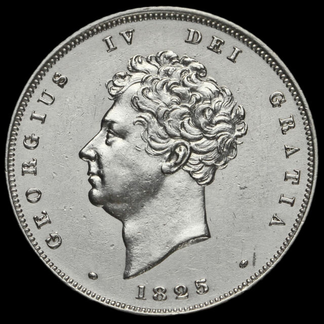 1825 George IV Bare Head Milled Silver Shilling, EF #2