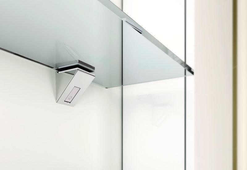 Glasregal unter den Spiegel nach Maß + Beschläge zum Aufhängen 6 mm Glas