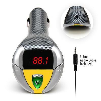 SoundRacer V8 Shelby Engine Sound Effect in Car Gadget MP3 FM Transmitter NEW