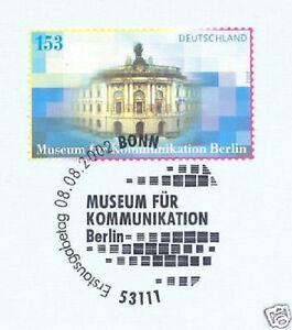 LibéRal Rfa 2002: Musée Des Communications Berlin Nº 2276! Bonner Ersttags-cachet! 1a-el! 1afr-fr Afficher Le Titre D'origine