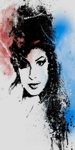 Amy Winehouse Oil Painting 28x16 NOT a print or poster also available framed