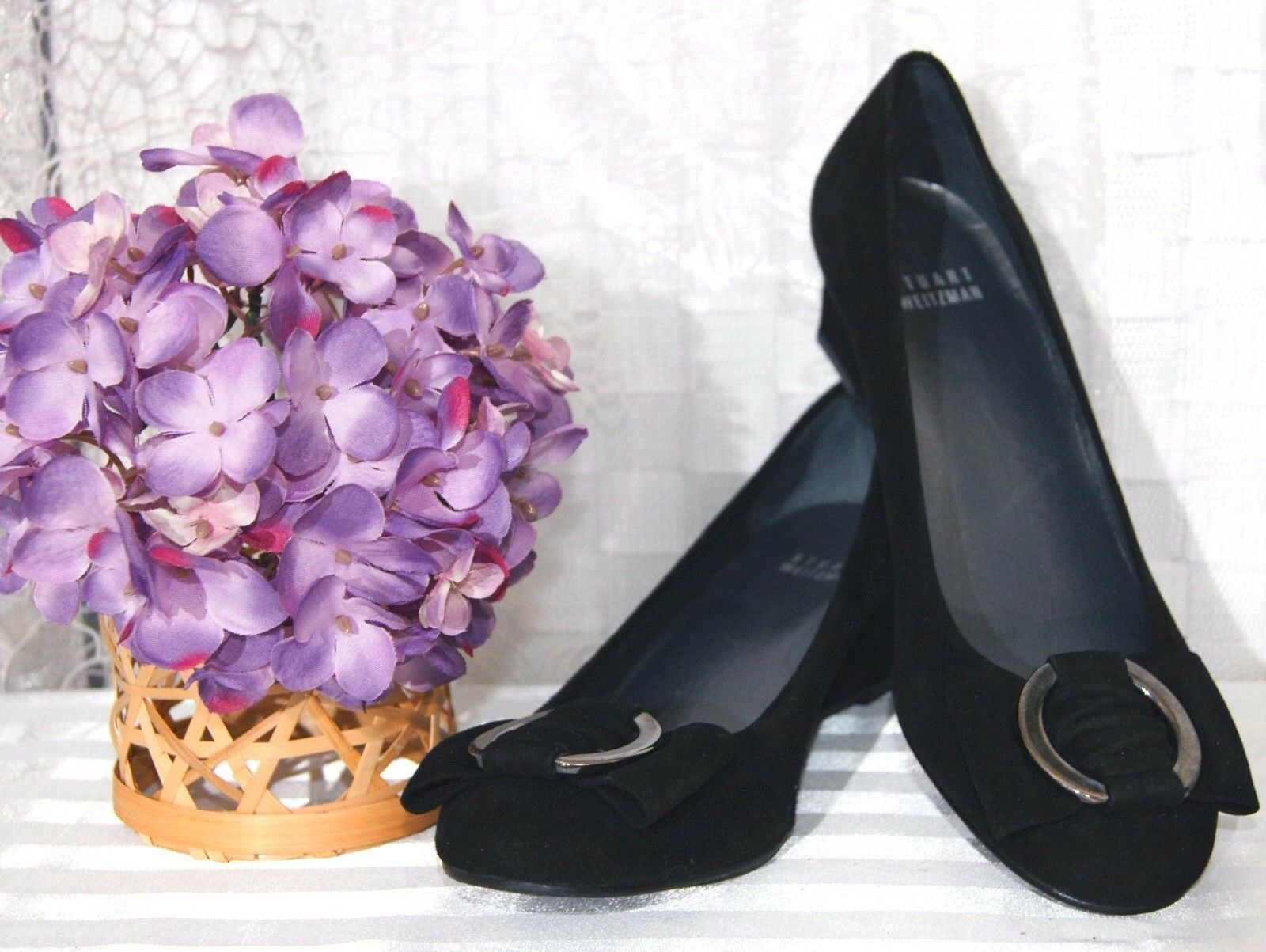 STUART WEITZMAN Damen  Pumps  Wedges dG. 36,5 schwarz Echt Leder Business