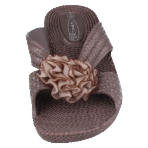 Sale Ladies Spot on Mule Wedge Sandals F1R0267