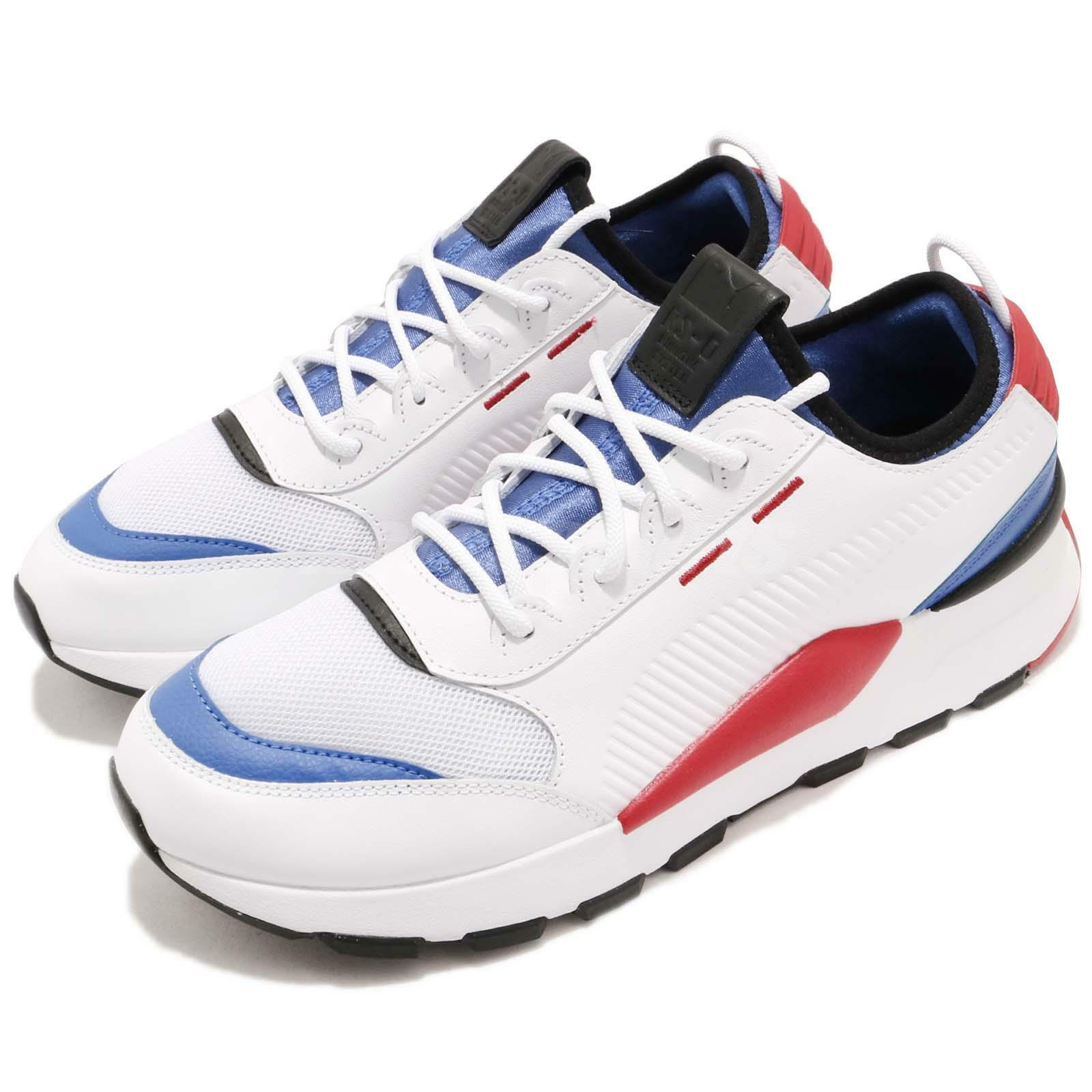 Puma RS-0 Sound Play Running System White blueee Red Men Lifestyle shoes 366890-01