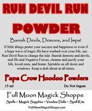 Run Devil Run Hoodoo Powder Repel Demons Devils Satan Stop Ills Attract Positive