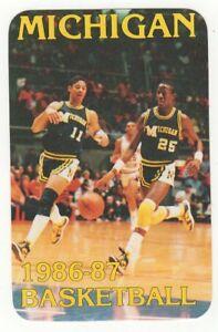 Details About 1986 87 Michigan Wolverines Basketball Schedule