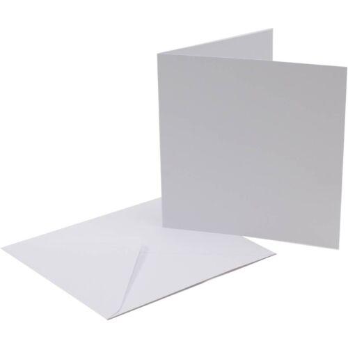 40 Blanco Premium 300gsm de espesor en Blanco Tarjetas de felicitación /& Sobres Tamaños Surtidos