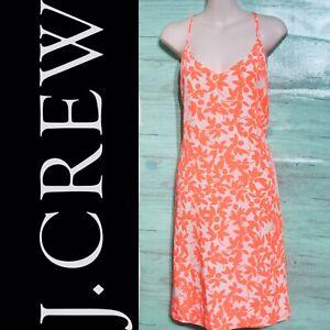 J-Crew-Women-039-s-Spaghetti-Strap-Racerback-Floral-Dress-Size-12