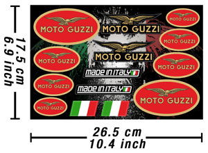 Moto-Guzzi-stickers-Decals-motocicleta-graficos-autokollant-pegatinas-adesivi-631