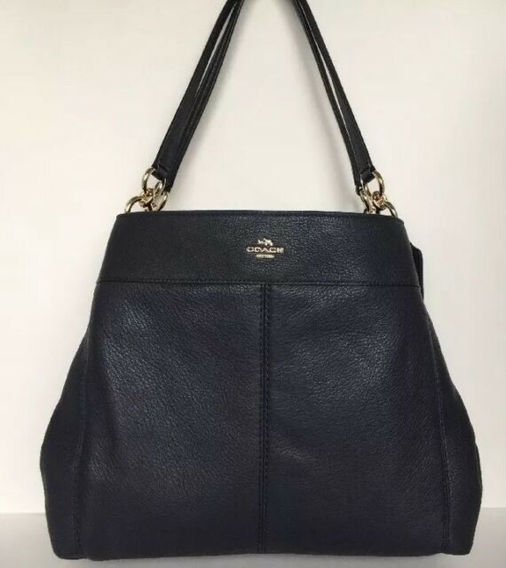 771c332d829 Coach 57545 Lexy Shoulder Bag Pebble Leather IM  Midnight   Gold Size Medium