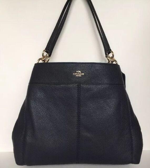 c1b4208f74 Coach F57545 Lexy Shoulder Bag Pebble Leather Im  Midnight   Gold Size  Medium