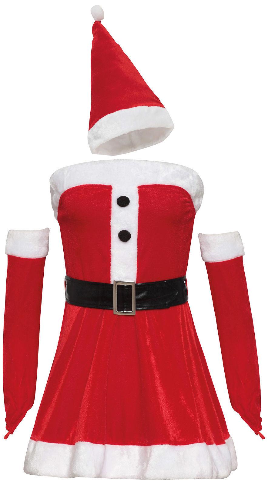 Womens Ladies Sexy Mrs Claus Santa Christmas Xmas Fancy Dress Costume Outfit UK