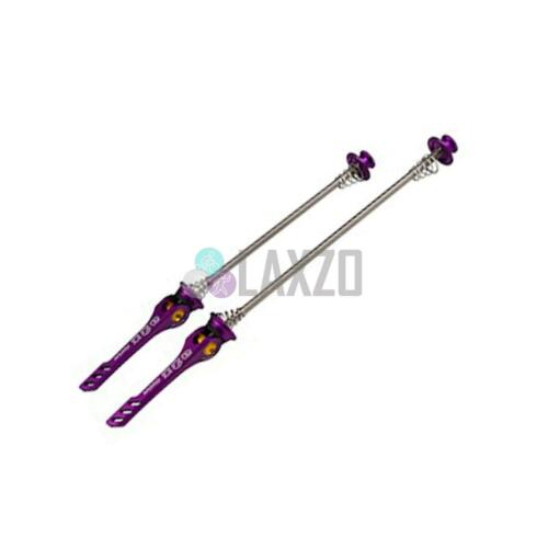 CNC Quick Release Skewers Light Weight with Titanium Rod Road 130mm Purple A2Z