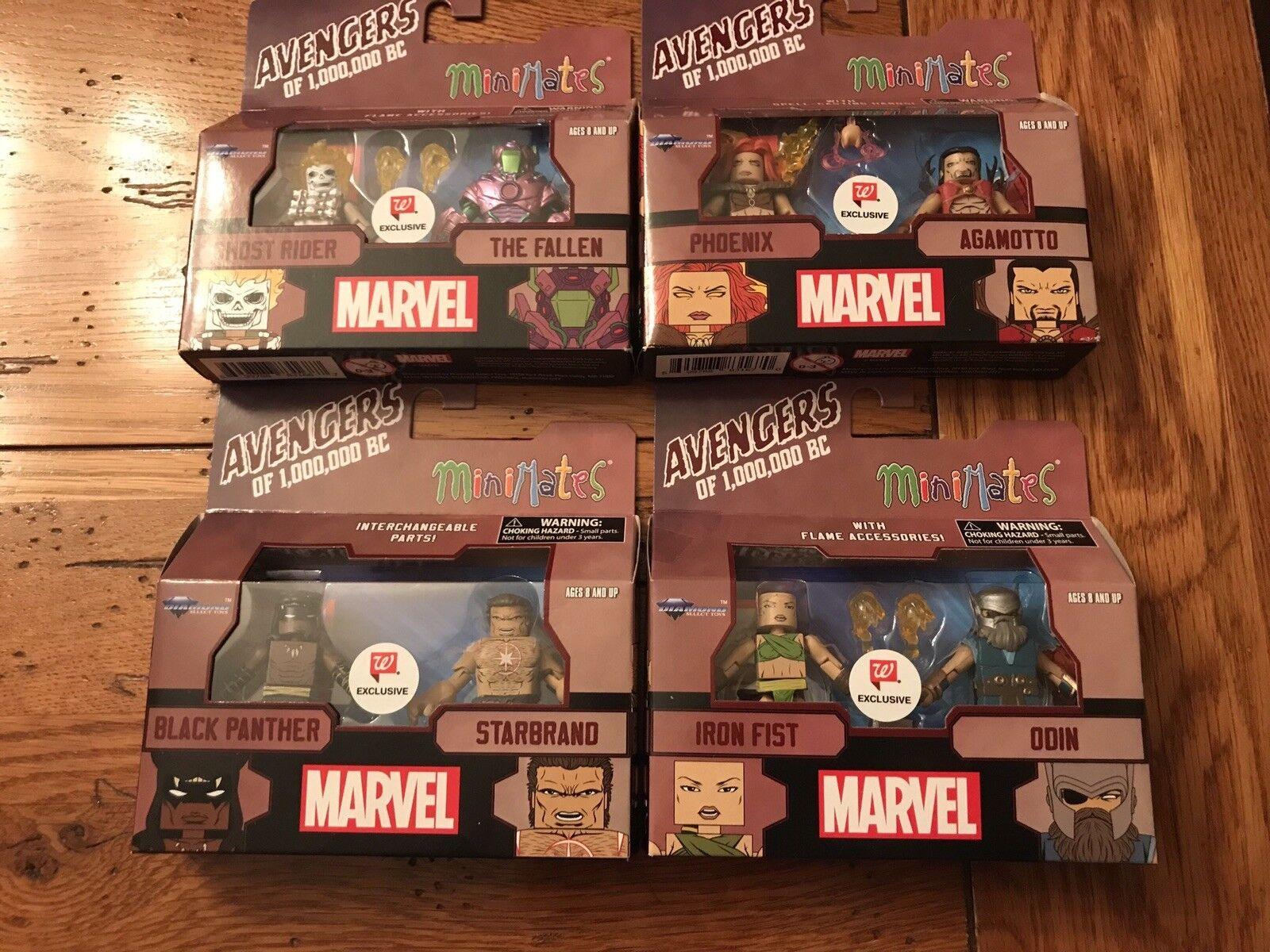 Marvel Minimates AVENGERS of 1,000,000 BC Walgreens Exclusive Set Phoenix Odin +