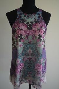 Forever-New-BNWT-sleeveless-top-floral-pattern-size-Aus-10