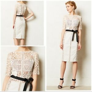 dc787fd2bf20 Image is loading NWT-BYRON-LARS-CARISSIMA-Sheath-Dress-ANTHROPOLOGIE-White-