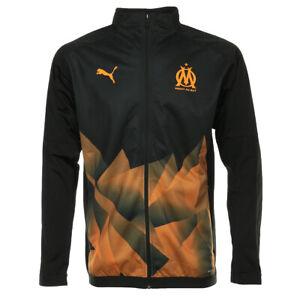 Détails sur Vêtement Vestes sport Puma homme OM Stadium Jacket INT taille Noir Noire