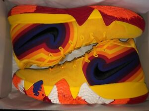 online store 5a663 1c501 Details about KYRIE 4 PLAYER EDITION (943806-700). AMARILLO / BLACK. SIZE 12
