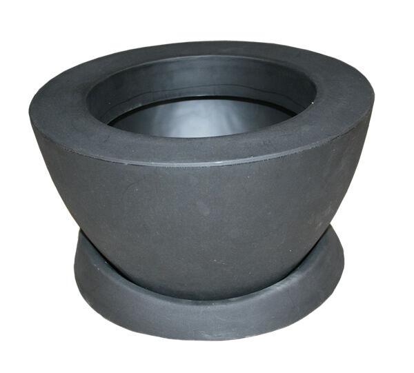 Contemporáneo Polietileno tazón rojoondo pot w saucer En Negro De 16 Pulgadas de diámetro x 9  de alto