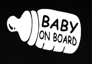Baby on Board bottle vinyl decal (one color)