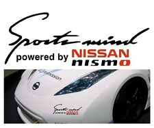 'Sports Mind' powered by~* NISSAN Nismo *~ Body Panel sticker decal