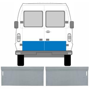 MERCEDES-T1-207-410-1977-1996-REAR-DOOR-OUTER-REPAIR-PANEL-SET-OF-2-PAIR