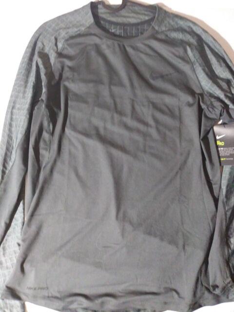 Nike PRO Hyperwarm Aeroloft Long Sleeve Training Top Men/'s 859749-065 Grey
