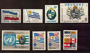 URUGUAY-FLAG-EMBLEMS-COAT-OF-ARMS-ALL-MOST-IMPORTANT-MNH-STAMPS-NOT-EASY-TO-GET