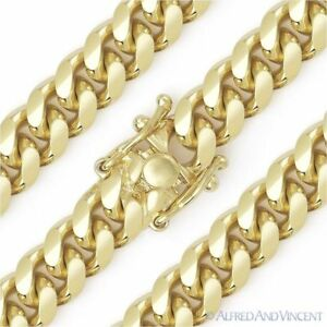 12mm-Miami-Cuban-Curb-Link-Italy-Sterling-Silver-14k-Yellow-Gold-Chain-Necklace