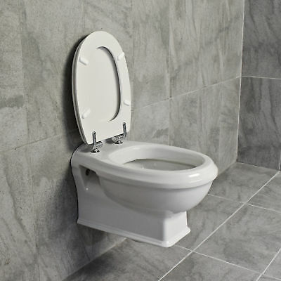 Greenwood Wall Hung Toilet Pan Traditional Design + Optional Concealed Cistern