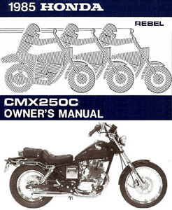 1985 honda cmx250c rebel motorcycle owners manual rebel 250 cmx250 rh ebay com 87 Honda Rebel 250 2004 Honda Rebel 250 Stator