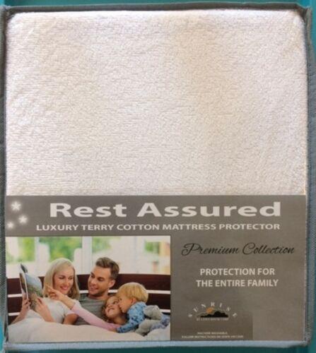 QUEEN Mattress Protector Pad Waterproof Soft Terry Cotton Hypoallergenic Cover