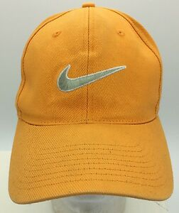 fafa5cdb2 Vintage Nike Orange Embroidered Swoosh Logo Snapback Hat Green ...