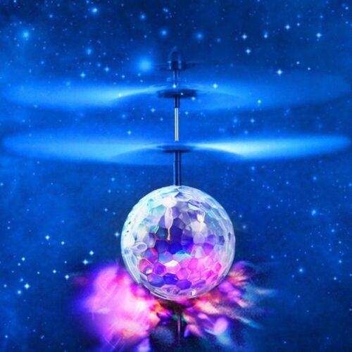 Fliegende Kugel Hubschrauber Kristall LED-Licht Infrarotsensor Kinder Spielzeug