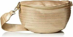 Steve-Madden-Becca-Convertible-Belt-Bag-Fanny-Pack-Shoulder-Crossbody-Gold-NEW
