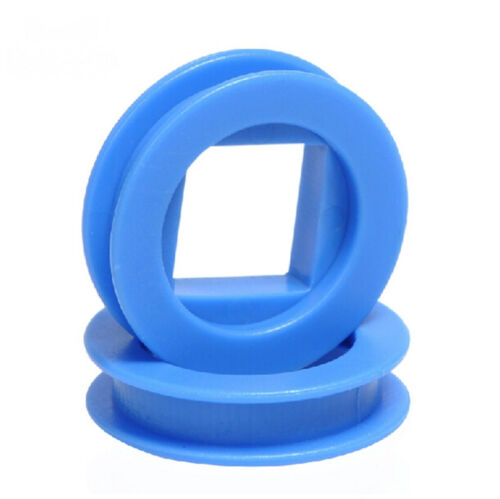 10pcs Plastic Sheave Belt Pulley 24mm Blue Timing Pulley 12mm Square Hole DIY