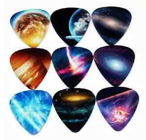 Assorted-Galaxy-Space-Universe-Guitar-Picks-Lot-of-10-46-mm-Free-Tracking-New