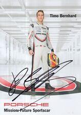 Timo Bernhard mano firmado Porsche Le Mans/WEC Promo Card 2017.