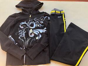 NWT BEBE Sport Logo Black Jacket Nylon with Large Gold LOGO Very Cool S M L