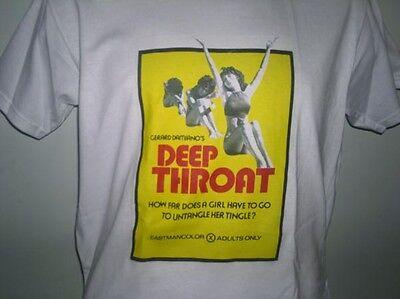 DEEP THROAT,  MOVIE POSTER,70'S SOFT PORN T-SHIRT, cult films,