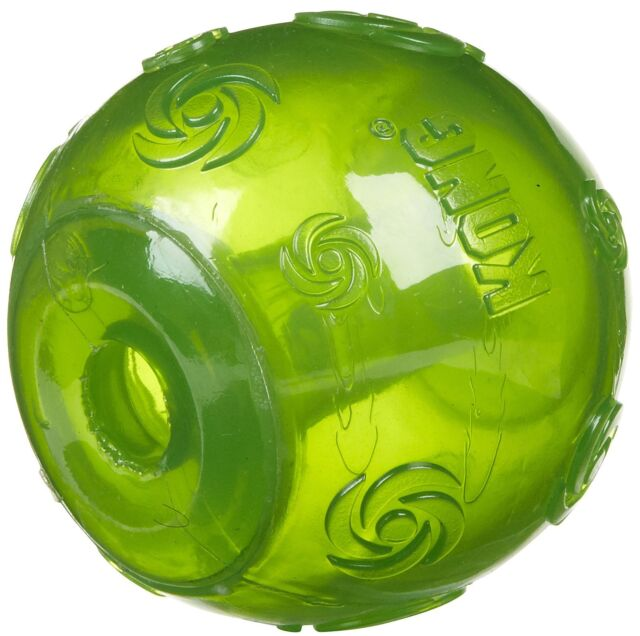 KONG SQUEEZZ BALL Med/Lg/XL Durable Squeaker Colorful Fetch TPR Ball Dog Toy