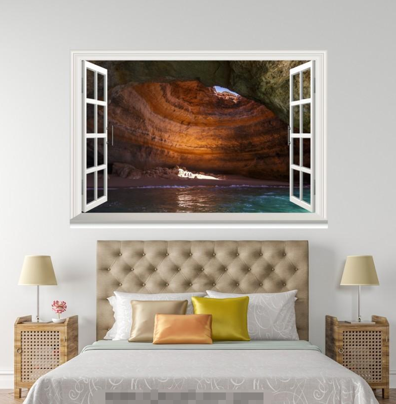 3D River Cave 4148 Open Windows WallPaper Murals Wall Print Decal Deco AJ Summer