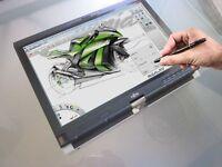 Fujitsu Wacom Illustration Tablet Laptop 160GB SSD ~ Cintiq Bamboo