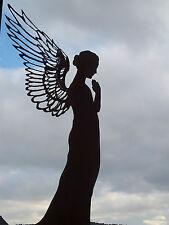 Edelrost Engel Santine 55 cm Dekoration Advent Garten Deko Skulptur Figur Flügel