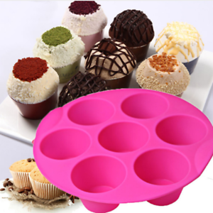 1pc 7 Cavity Silicone Cupcake Cake Mold DIY Muffin Chocolate Pudding Baking Tool