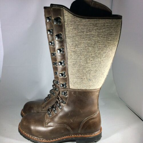 SUOLA Riding Boot Women Size 40 Brown Leather Wool